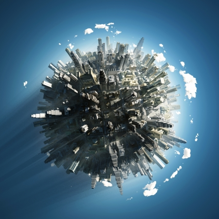 big city on small planet Stock Photo - 16256827