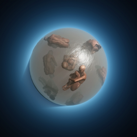 human bodies in the sphere photo