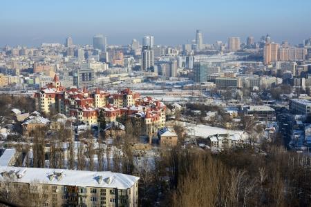 kiev city at winter