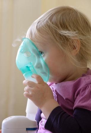 child makes inhalation