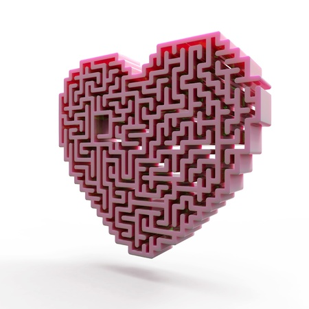 heart labyrinth Stock Photo - 17716370