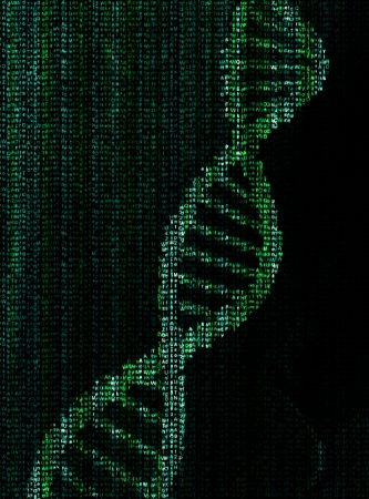 encrypted dna molecule Stock Photo - 17856457