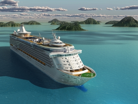 Cruise ship in the sea
