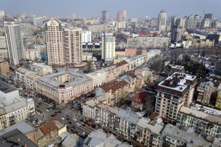 kyiv: kiev city, aerial view