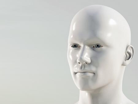 hombre calvo: hombre plástico