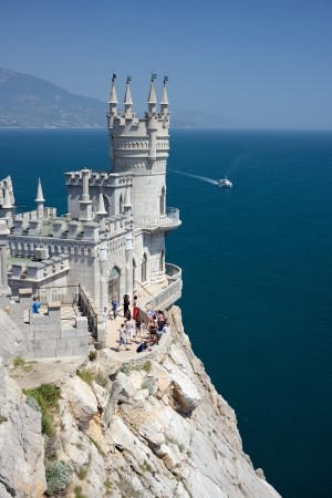 edge of cliff: famous castle near Yalta, Swallow nest Editorial