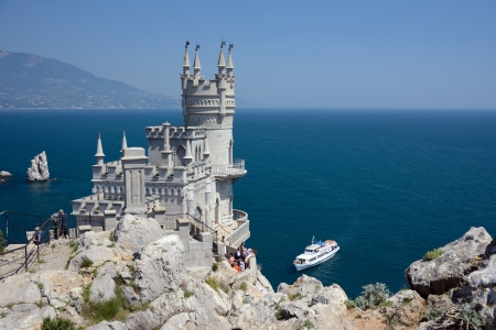 famous castle near Yalta, Swallow nest Editorial