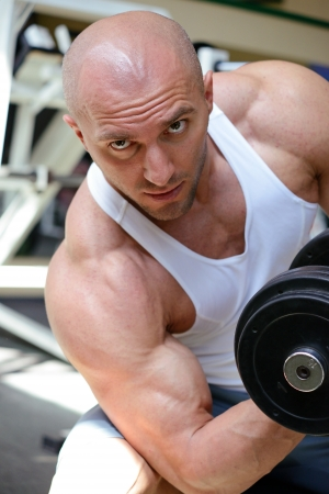 bodybuilder in gym Stock Photo - 19942899