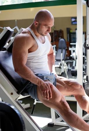 bodybuilder in gym Stock Photo - 19942908