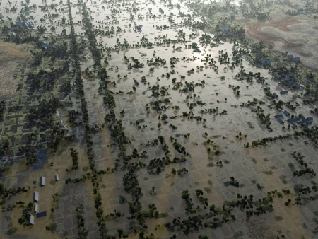 Flood, Aerial View Stock Photo