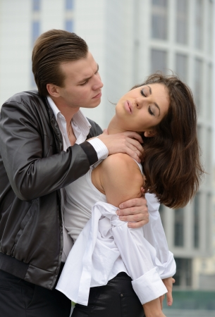 emotional fight between men and women photo