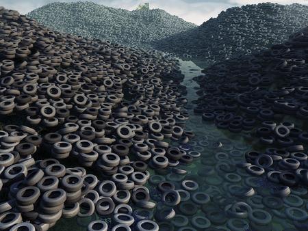 residuos toxicos: descarga del neumático
