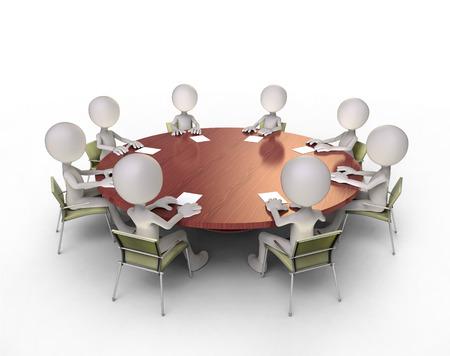 roundtable: round-table talks Stock Photo