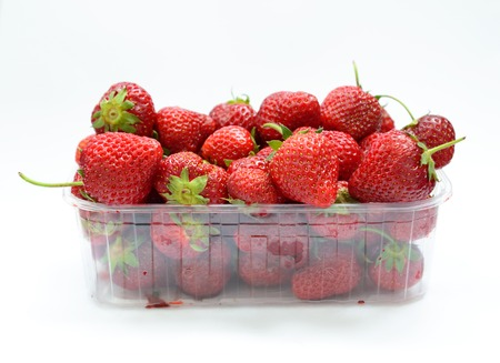 strawberry baskets: box with strawberries