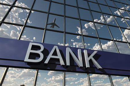 건물에 은행 기호 스톡 콘텐츠