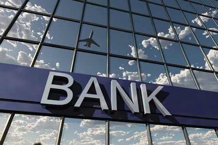 bank sign on a building