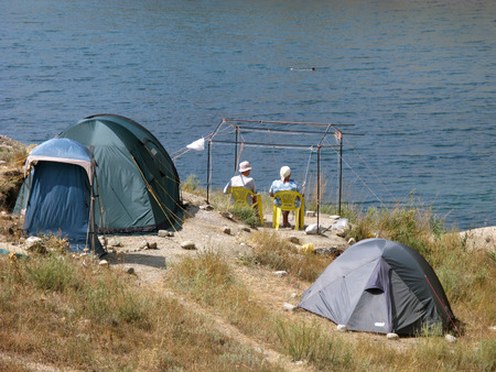 summer camp on the beach photo