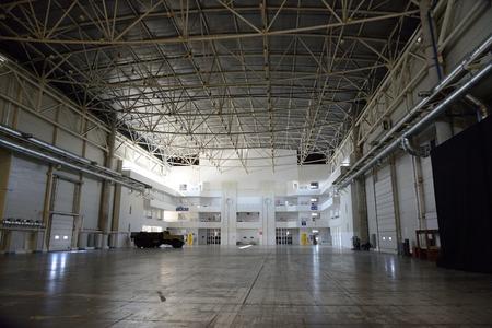 steelwork: empty warehouse Editorial