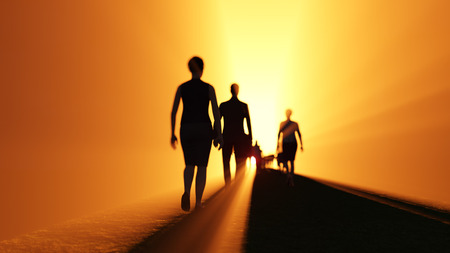 cielo: la gente va a la luz