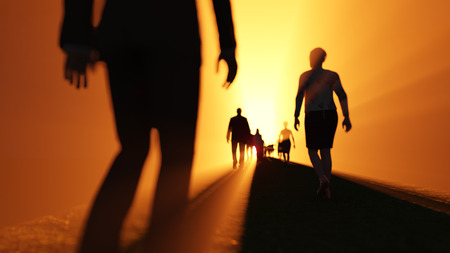 heaven: people go to the light