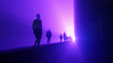 god walking: people go to the light