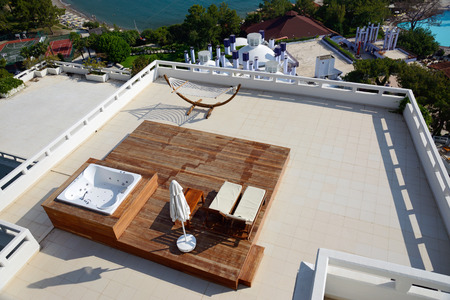 penthouse: hammock on the penthouse terrace