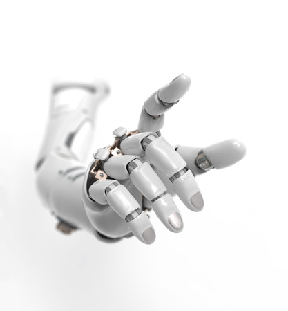robot: sztuczna ręka Zdjęcie Seryjne