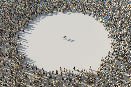 frame of crowds