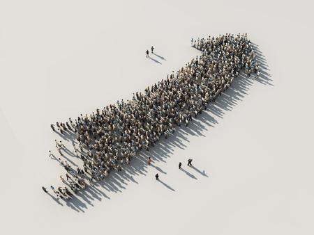 arrow of crowds Stockfoto
