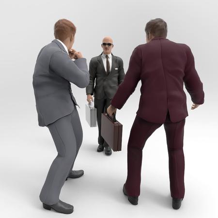 pelea: lucha de negocios  Foto de archivo