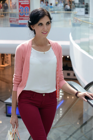 shopping mall: woman going shopping in a mall