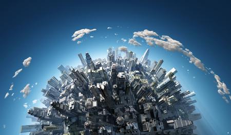 megalopolis aerial view