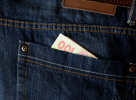 money in pocket: Money in your pocket Stock Photo