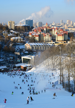 Winter holidays in Kiev, Ukraine Reklamní fotografie