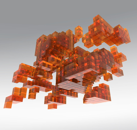 cubic: Abstract cubic glass structure Stock Photo