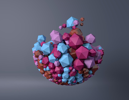spherical: abstract spherical object particles