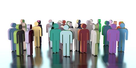 teamwork: teamwork,  3d illustration Stock Photo