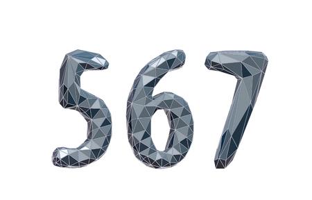 6 7: high-tech number set 5, 6, 7