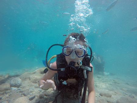 dive trip: scuba diving Stock Photo