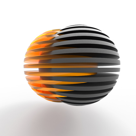 sphere logo: connecting sliced spheres
