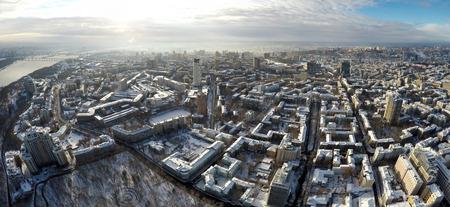 Kiev winter,  aerial view,