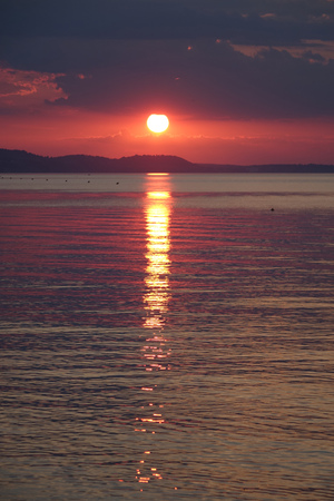 sunset on the Aegean Sea