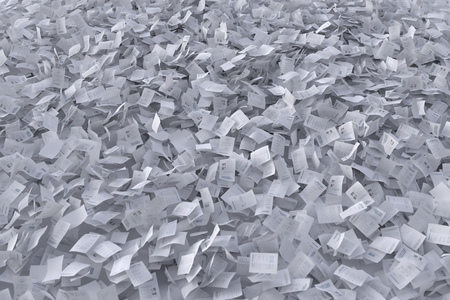 flow of paper sheets, abstract background
