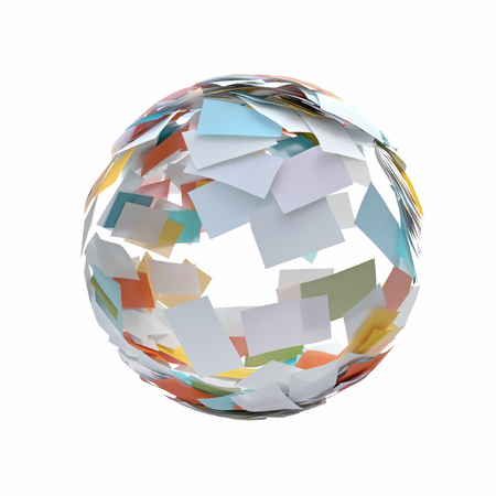 rolling ball of paper sheets Reklamní fotografie