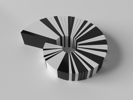 abstract spiral 3d object