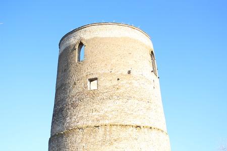 Upper windows ancient watchtower