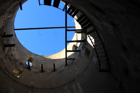 Inside the ancient watchtower