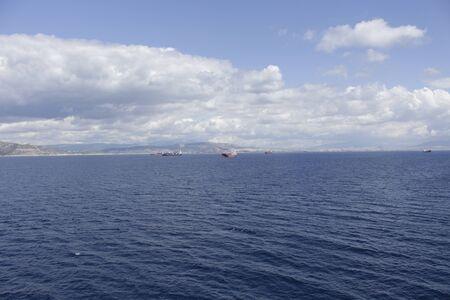 Many ships gathered in a raid near the coast.