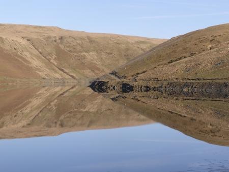 elan: Claerwen reservoir, Elan Valley,Powys, Wales Stock Photo