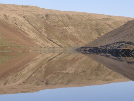 elan: Claerwen reservoir, Elan Valley,Powys, Wales Stock Photo